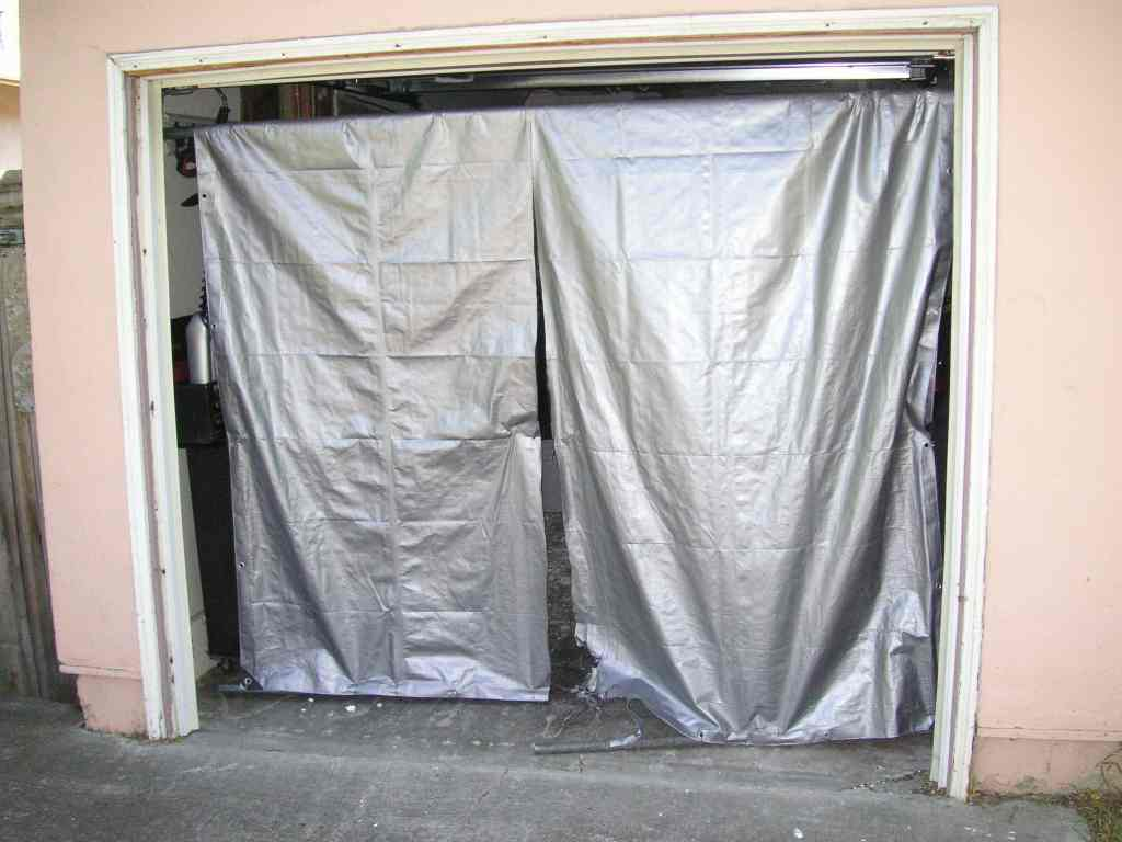Door_tarp_01 & A tarp to cover your garage door. - Sportster garage