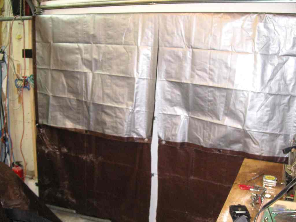 A Tarp To Cover Your Garage Door Sportster Garage