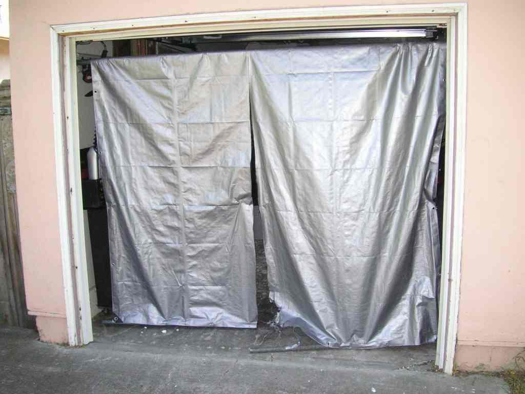A Tarp To Cover Your Garage Door Sportster Garage
