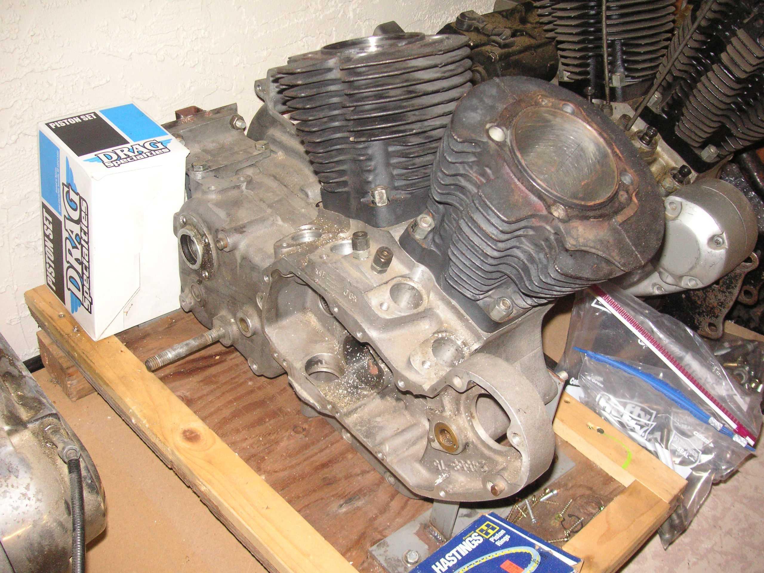 The spare engine shelf - Sportster garage