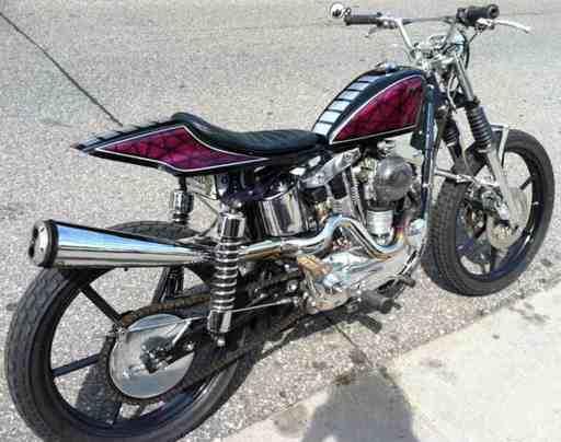 djp210's 1962 XLH Sportster street tracker custom